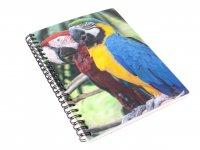 3D Notizbuch - Papageien - groß