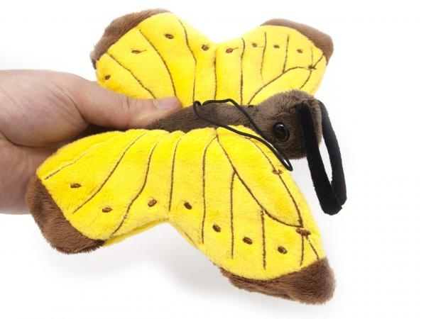 Kuscheltier - Schmetterling mit Band (gelb) - 23 cm