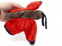 Kuscheltier - Schmetterling mit Band (rot) - 23 cm