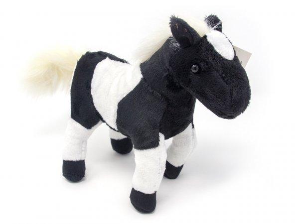 Kuscheltier - Western Pferd - schwarz weiß