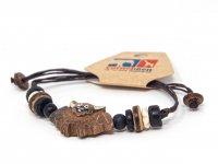 Armband mit Holzmotiv - Fledermaus