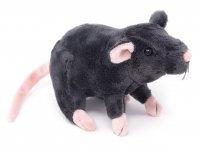 Kuscheltier - Ratte schwarz - 31 cm