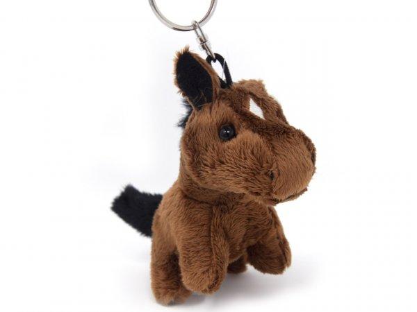 Plüsch Schlüsselanhänger - braunes Pferd