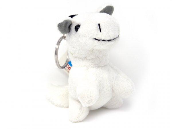 Plüsch Schlüsselanhänger - weißes Pferd