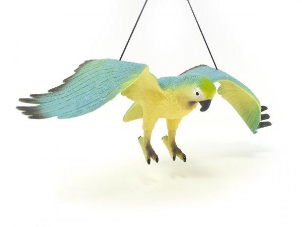 Spieltier mit Hängeband - Papagei gelb/dunkelblau