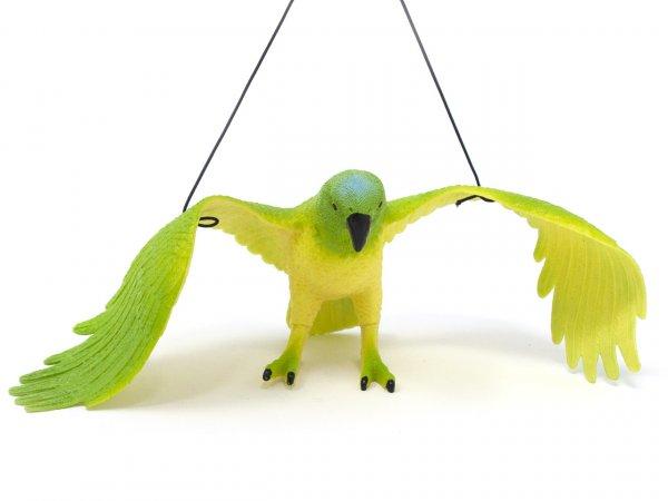 Spieltier mit Hängeband - Papagei gelb/grün