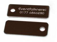 Adresstafeln 35mm versch. Farben Adresstafel Braun 10...