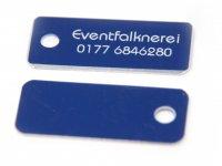 Adresstafeln 35mm versch. Farben Adresstafel Blau 10...