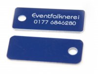Adresstafeln 35mm versch. Farben Adresstafel Blau 5...