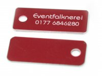 Adresstafeln 35mm versch. Farben Adresstafel Rot 25...