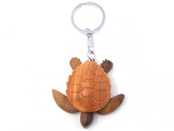 Schlüsselanhänger aus Holz - Wasserschildkröte