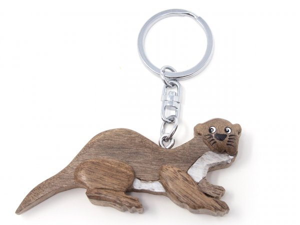 Schlüsselanhänger aus Holz - Otter