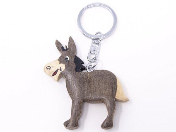 Schlüsselanhänger aus Holz - Esel