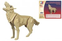 Holz 3D Puzzle - Wolf