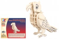 Holz 3D Puzzle - Papagei