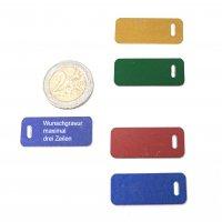 Adresstafeln 35mm versch. Farben - Schlitz