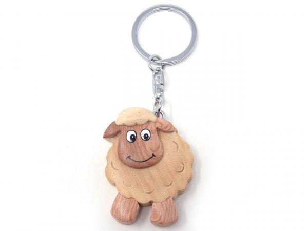 Schlüsselanhänger aus Holz - Schaf