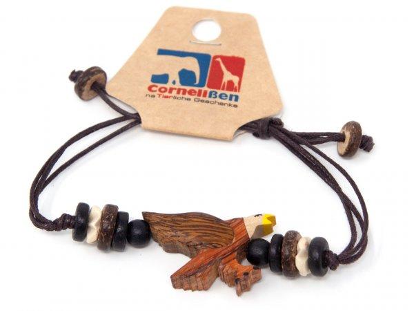 Armband mit Holzmotiv - Adler
