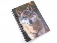3D Notizbuch - Wolfskopf - klein