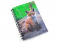 3D Notizbuch - Fuchswelpe - klein