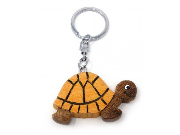 Schlüsselanhänger aus Holz - Schildkröte