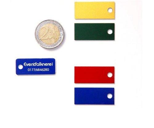 Adresstafeln 35mm versch. Farben - Loch