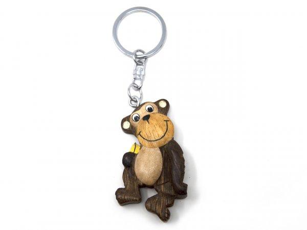 Schlüsselanhänger aus Holz - Affe