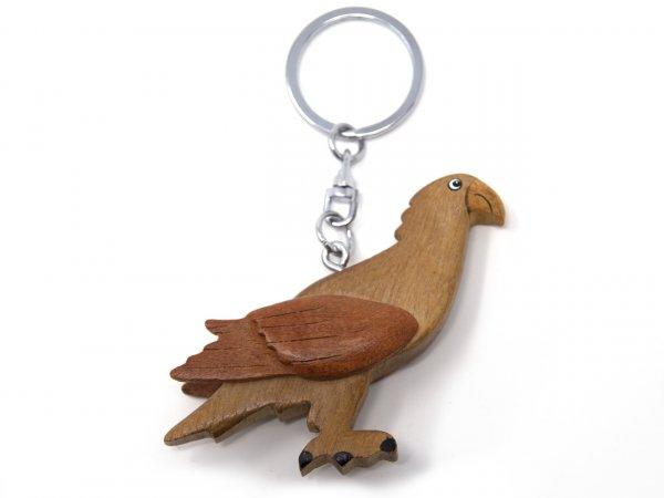 Schlüsselanhänger aus Holz - Steinadler