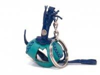 Schlüsselanhänger aus Leder - Falkenhaube -...