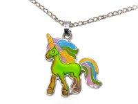 Stimmungskette mit Metallkette - Einhorn Rainbow