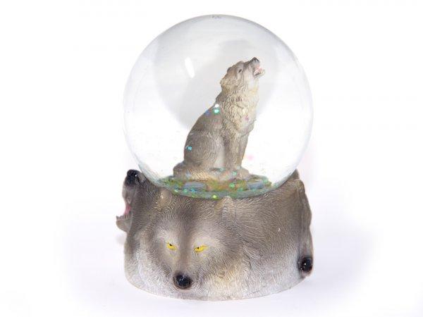 Schneekugel Poly - Wolf