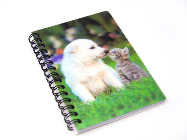 3D Notizbuch - Katze und Hund - klein