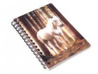 3D Notizbuch - Pferd Schimmel - klein