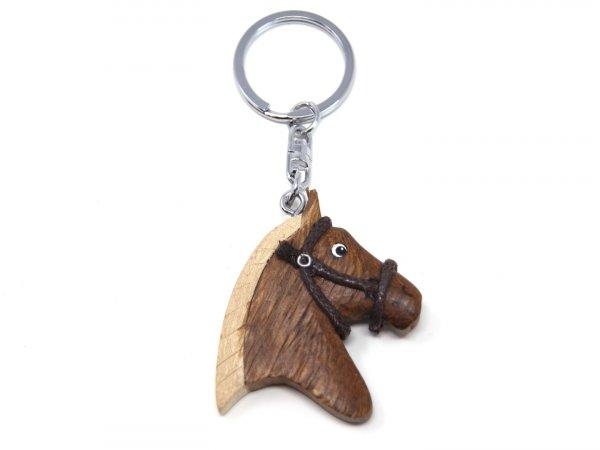 Schlüsselanhänger aus Holz - Pferdekopf