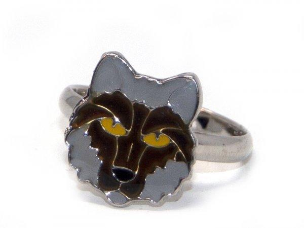 Ring für Kinder - Stimmungsring Wolfskopf