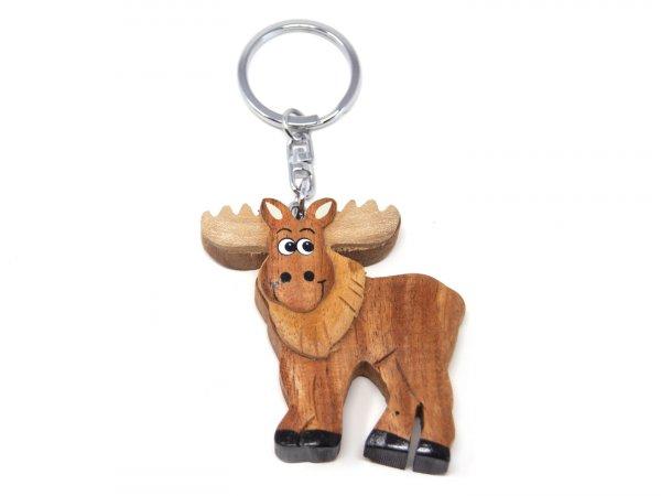 Schlüsselanhänger aus Holz - Elch