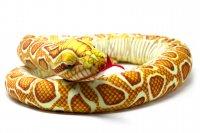Kuscheltier - Schlange Goldpython - 145 cm lang