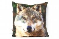 Stoffkissen - Wolf - 35x35