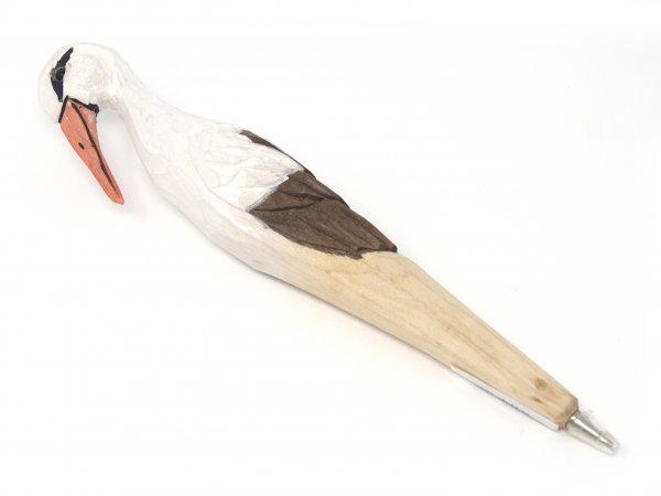 Holzkugelschreiber - Storch, ca. 20cm