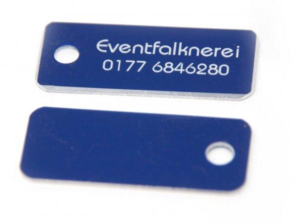 Adresstafel Blau